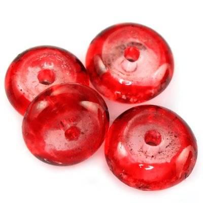 krążki czerwone 10 mm / koraliki szklane