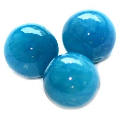 boules marbre azuré vitréux 10 mm