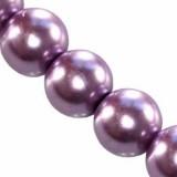 szklane perełki fioletowe 8 mm