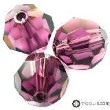 Swarovski round beads amethyst 4 mm