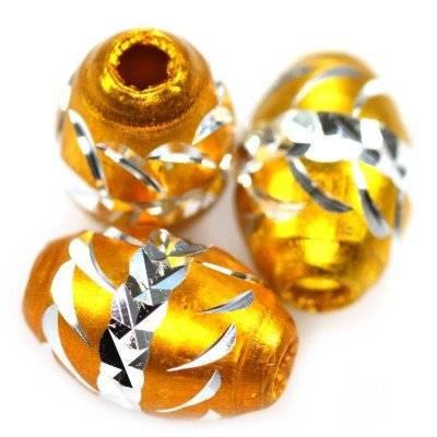 ovals aluminium beads gold 8,5 x 12,5