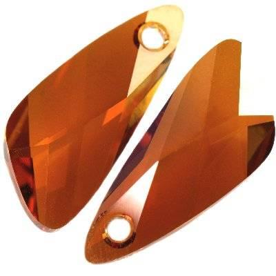Swarovski wing pendants crystal copper 23 mm