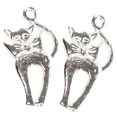 sterling silver 925 pendant cat