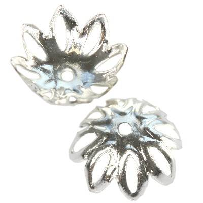 distanziale fiorello grande 13,6 mm colore d'argento minuteria componenti