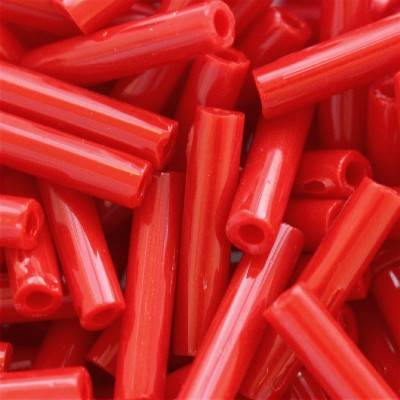 Toho beads bugle opaque pepper red 9 mm TB-03-45