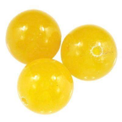 jadeit miodowy 10 mm kamień naturalny barwiony