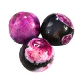 agate dragon eye pink round 6 mm dyed stone