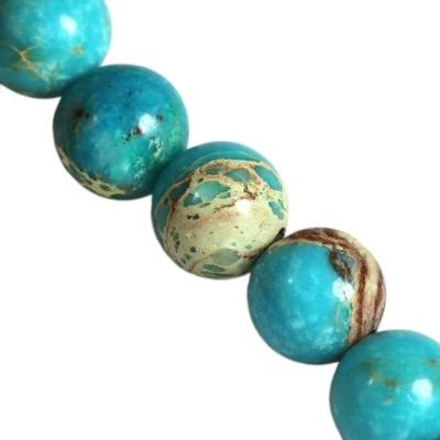 jaspis cesarski błękitne 4 mm kamień naturalny barwiony