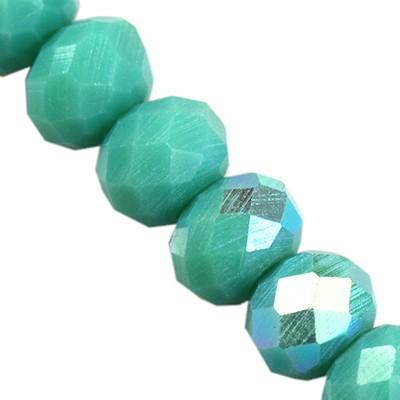 CrystaLine rondelle teal AB 3 x 4 mm