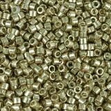 Miyuki Delica Beads duracoat galvanized champagne 1.6 x 1.3 mm DB-1834