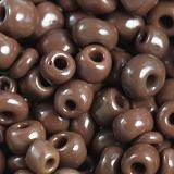 glass seed beads saddle brown 3.5 mm