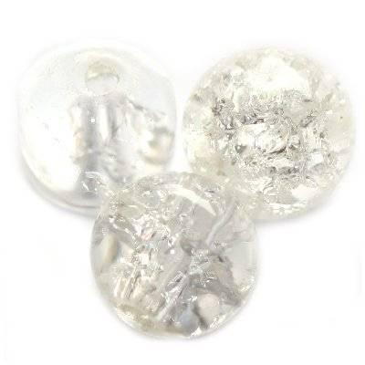 crackle kule białe 10 mm