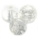 crackle beads beads white 10 mm