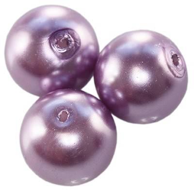 szklane perełki fioletowe 10 mm