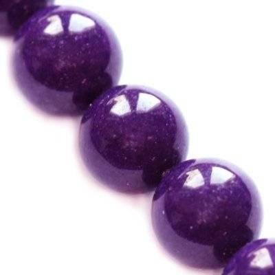 jadeit górski fioletowy 6 mm kamień naturalny barwiony