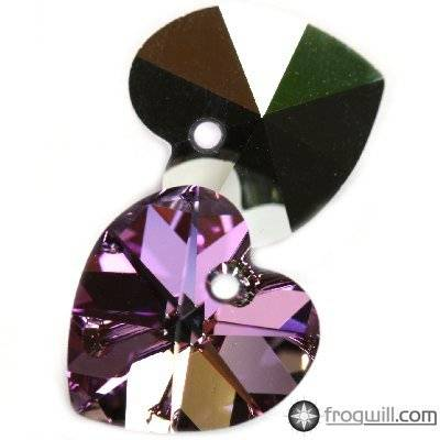 Swarovski heart pendants crystal vitrail light 14.4 x 14 mm
