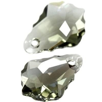 Swarovski baroque pendants black diamond 16 x 11 mm