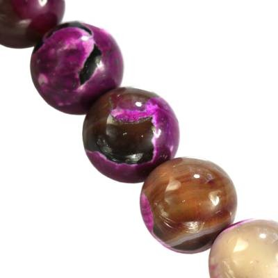 agate dragon eye pink beads 8 mm dyed natural stone/ semi-precious stone dyed