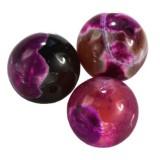 agat smocze oko różowy 8 mm kamień naturalny barwiony