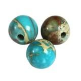 imperial jasper round azure 6 mm естествен оцветен камък
