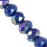 Crystaline rondelle bleu foncé AB 3 x 4 mm / perles de cristal