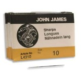 John James needles sharps #10