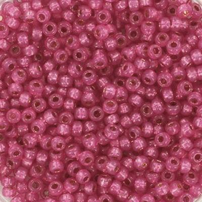Miyuki pärlor round duracoat silverlined dyed flamingo 11/0 #11-4239