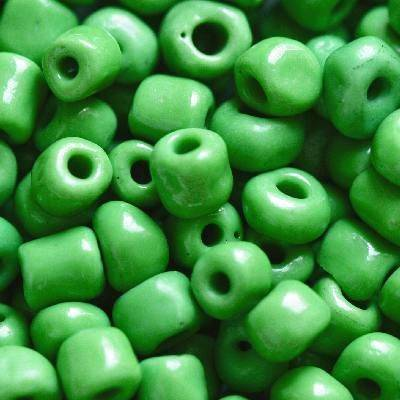glass seed beads grass green 3.5 mm