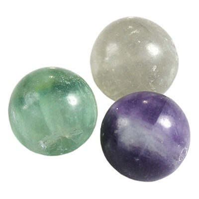 fluorite beads 10 mm / semi-precious stone