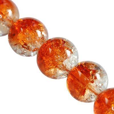 crackle beads beads orange 10 mm