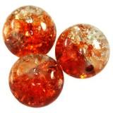 χάντρες κροτάλισμα πορτοκαλί 10 χιλιοστά