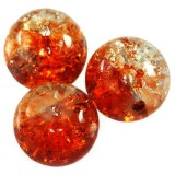 koraliki crackle kule pomarańczowe 10 mm