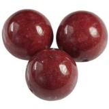 kule górski jadeit rubinowy 8 mm kamień naturalny barwiony