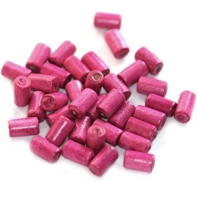 bâtons en bois roses 10 x 6 mm