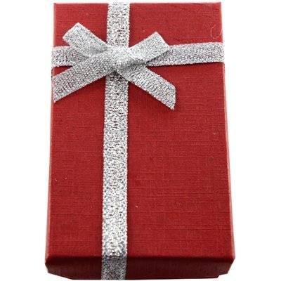 pudełeczko na kolczyki czerwone 5 x 8 x 2.5 cm