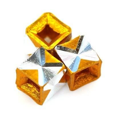 kostki aluminiowe złote 5.5 mm