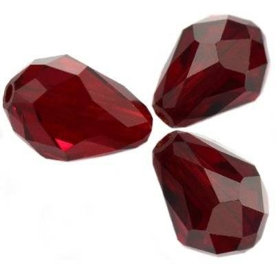 Swarovski teardrop beads siam 9 x 6 mm