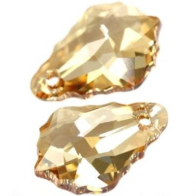 Swarovski baroque pendants crystal golden shadow 16 x 11 mm