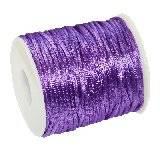 sznurek satynowy fioletowy 2 mm