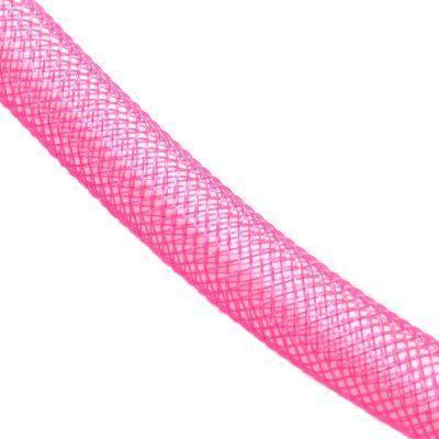 tube de maille rose 8 mm