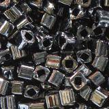 Toho beads cube metallic hematite 1.5 mm TC-01-81