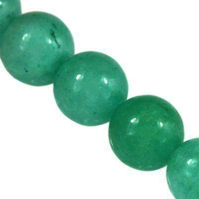 jade beads azure 4 mm / semi-precious stone dyed