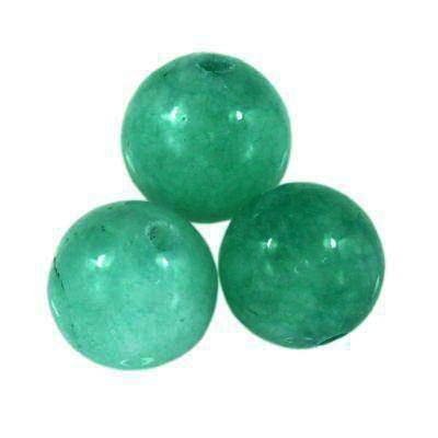 jade beads azure 4 mm / semi-precious stone dyed