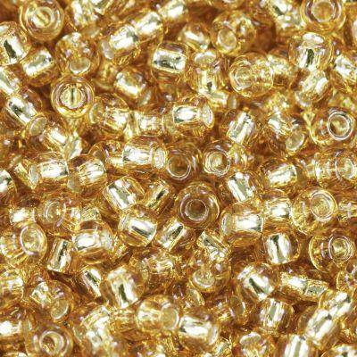 Toho beads round silver-lined med topaz 2.2 mm TR-11-22B