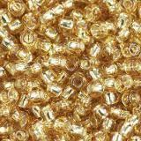 Toho perlen round silver-lined med topaz 2.2 mm TR-11-22B