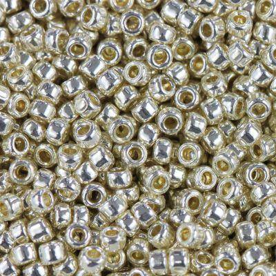 Toho beads round permafinish - galvanized aluminum 1.6 mm TR-15-PF558