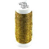 Rona™ Embroidery thread gold yellow / metallised thread