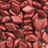 koraliki GemDuo lava red 8 x 5 mm