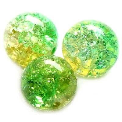 crackle bolas verdes 10 mm