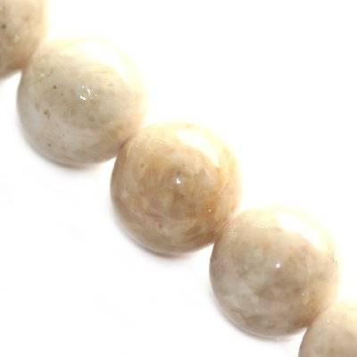 marble beads dyed white 8 mm / natural stone dyed